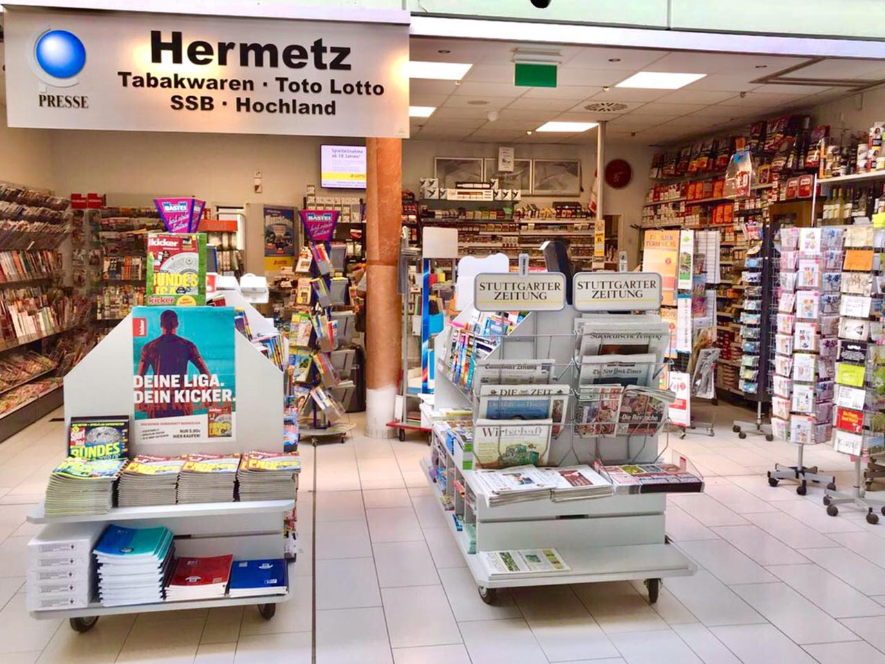 Hermetz - Tabakwaren, Toto-Lotto, SSB, Weine, Presse u.m.