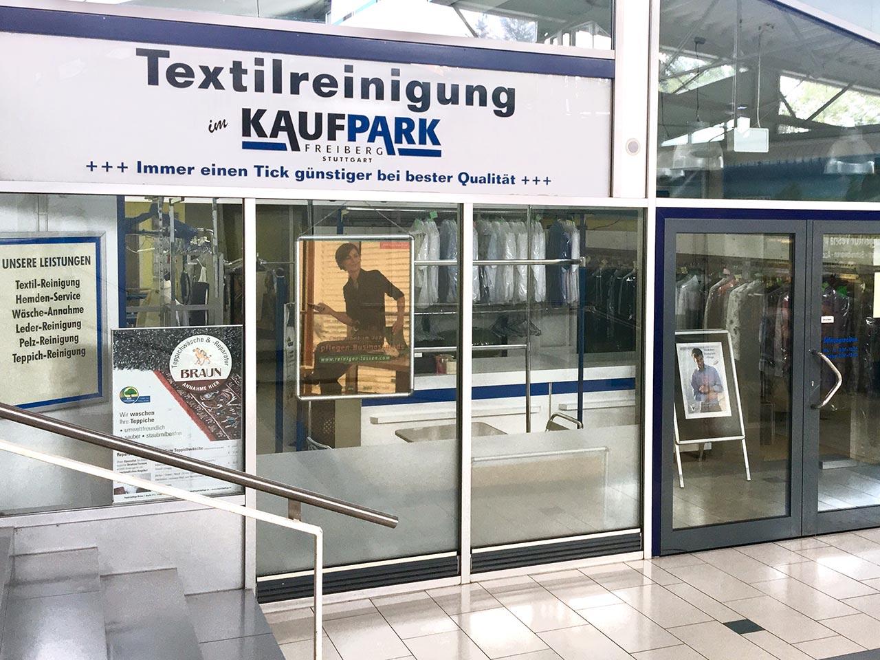 Textilreinigung im Kaufpark Stuttgart-Freiberg
