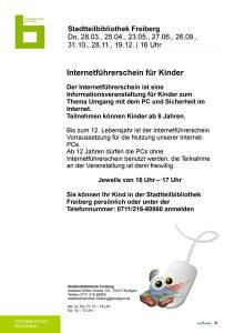 Plakat Termine Internetführerschein