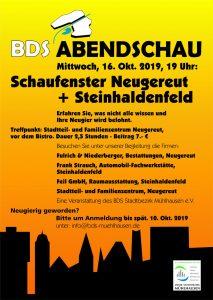 Plakat - BDS Abendschau 10-2019