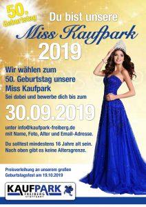 Plakat 2 für Misswahl und 50-Jahre Jubiläum Kaufpark Freiberg